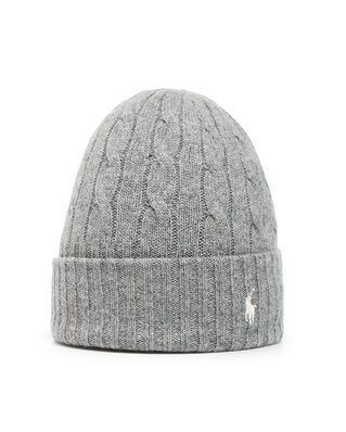 Polo Ralph Lauren Wool Cashmere-Hat Grey