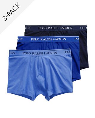 Polo Ralph Lauren 3-Pack Stretch Cotton Trunk Cr Nvy/Saphir Star/Bermud