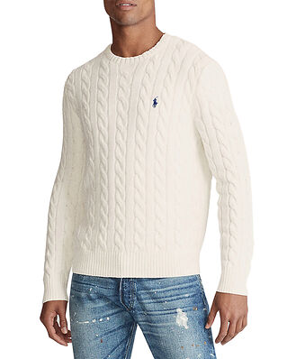 Polo Ralph Lauren Cable Knit Cotton Jumper Cream