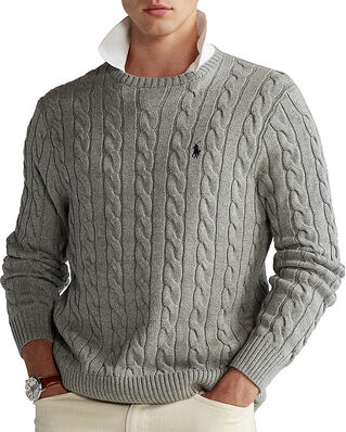 Polo Ralph Lauren Cable Knit Cotton Jumper Grey