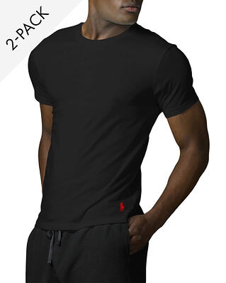 Polo Ralph Lauren Classic 2-Pack Crew Undershirt Black