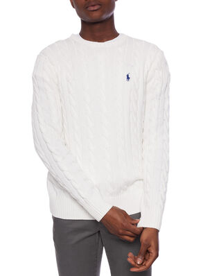 Polo Ralph Lauren Cotton Cable-Lsl-Swt Old White