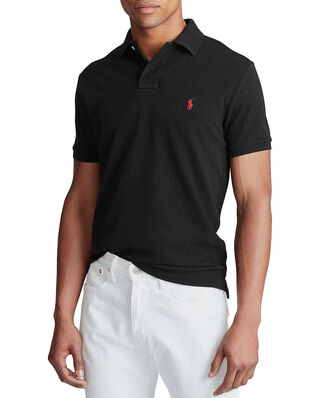 Polo Ralph Lauren Custom Slim Fit Mesh Polo Core Black