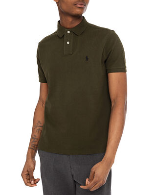 Polo Ralph Lauren Custom Slim Fit Mesh Polo Shirt Green