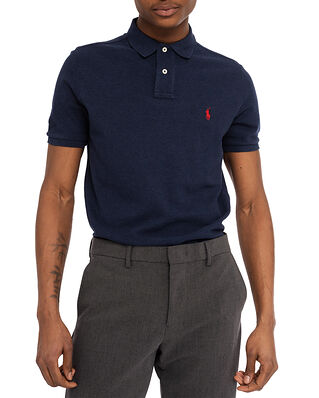 Polo Ralph Lauren Custom Slim Fit Mesh Polo Shirt Navy