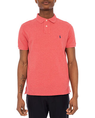 Polo Ralph Lauren Custom Slim Fit Mesh Polo Shirt Red