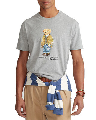 Polo Ralph Lauren Custom Slim Fit Polo Bear T-Shirt Grey