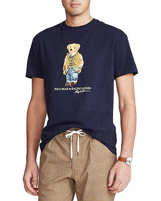 Polo Ralph Lauren Custom Slim Fit Polo Bear T-Shirt Navy