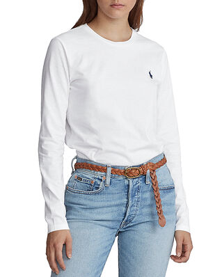 Polo Ralph Lauren Jersey Long-Sleeve Shirt White