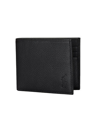 Polo Ralph Lauren Leather Billfold Wallet Black