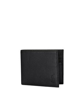 Polo Ralph Lauren Leather Billfold Wallet Black