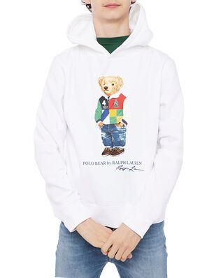 Polo Ralph Lauren Ls Po Hood-Tops-Knit White