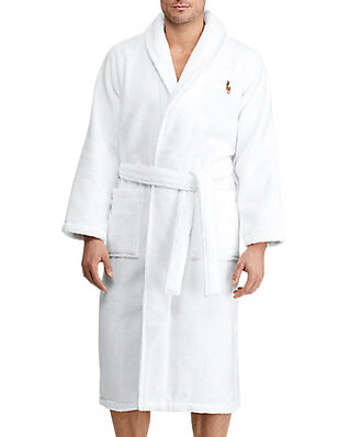 Polo Ralph Lauren L/S Shawl-Robe White