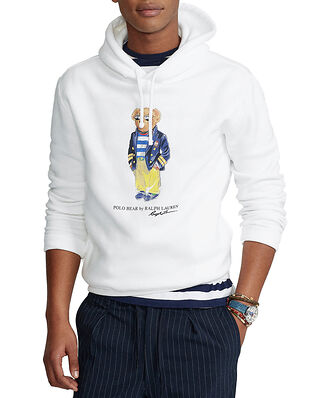 Polo Ralph Lauren Marina Polo Bear Fleece Hoodie White
