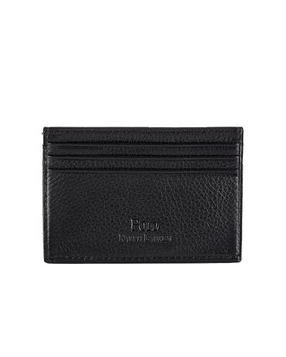 Polo Ralph Lauren Pebble Leather Card Case Black