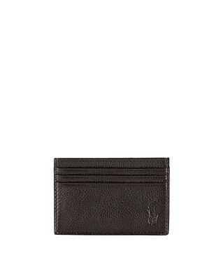 Polo Ralph Lauren Pebble Leather Card Case Brown