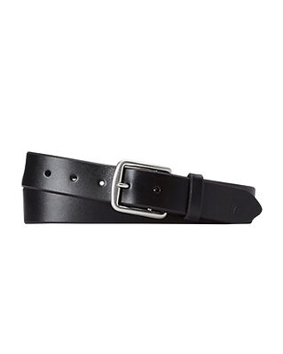 Polo Ralph Lauren Saddle Leather Dress Belt Black