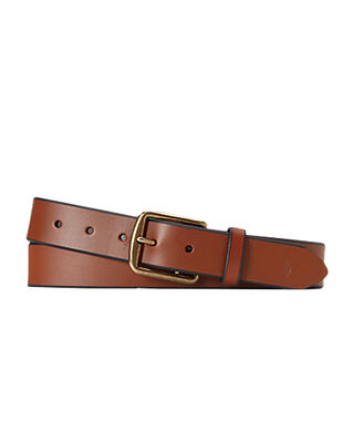 Polo Ralph Lauren Saddle Leather Dress Belt Brown