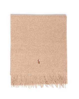 Polo Ralph Lauren Sign It Wool-Oblong Scarf Brown Hthr