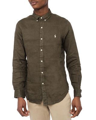 Polo Ralph Lauren Slbdppcs-Long Sleeve Sport Shirt Expedition Olive