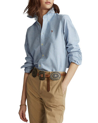 Polo Ralph Lauren Slim Fit Cotton Oxford Shirt Blue