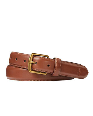 Polo Ralph Lauren SMTH DRS BLT-Casual-Smooth Leather Brown
