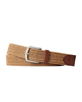 Polo Ralph Lauren Stretch Waxed Cotton Belt Dark Olive