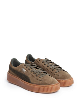 Puma Suede Platform Animal Olive Night-Silver