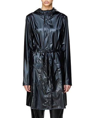 Rains Curve Jacket Shiny Black