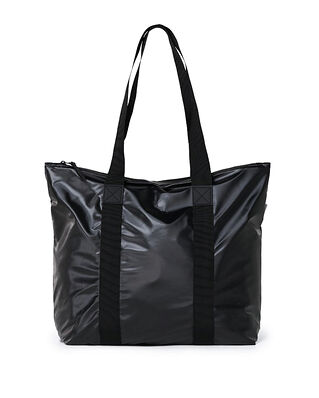 Rains Tote Bag Rush Shiny Black