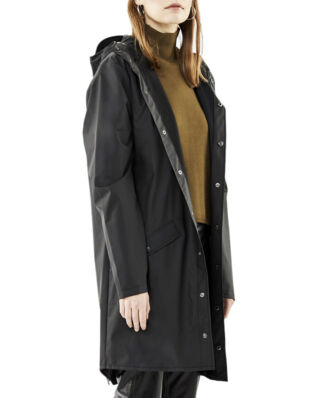 Rains Long Jacket Black