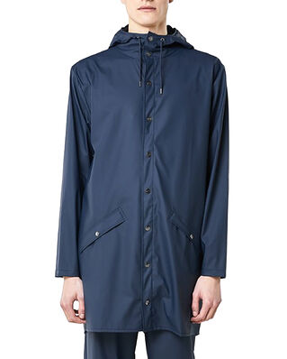 Rains Long Jacket Blue