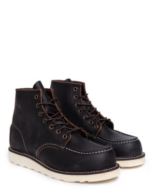 Red Wing Shoes 6-Inch Moc 8849 Black Prairie Leather