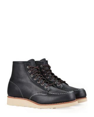 Red Wing Shoes 6-inch Classic Moc Toe 3373 Black Boundary Leather
