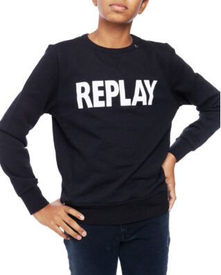 Replay Junior SB2026 Jumper Cotton Fleece Black