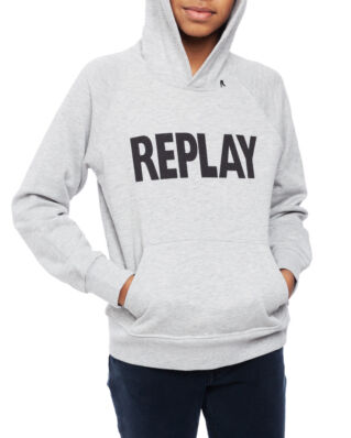 Replay Junior SB2420 Jumper Cotton Fleece Grey Melange
