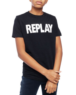 Replay Junior SB7308 T-Shirt Basic Jersey Black