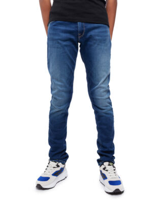 Replay Junior SB9385 Trousers 11.5 Oz Hyperflex Stretch Denim Super Slim Medium Blue