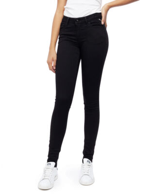 Replay Junior SG9208 Trousers 11.5 Oz Hyperflex Black Stretch Denim Super Skinny Denim