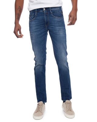 Replay M914 Anbass 624 10.5 OZ Dark Indigo Super Stretch Denim Dark Blue