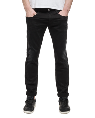 Replay M914 Anbass Hyperflex Slim-fit Jeans Black Denim