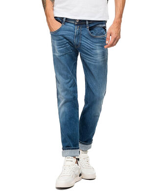 Replay M914Y Anbass Hyperflex Stretch Denim Medium Blue