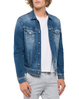 Replay MV842K Jacket 11.5 OZ Hyperflex Stretch Denim Medium Blue