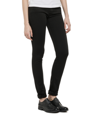 Replay WX689 Luz Hyperflex Skinny Jeans Black