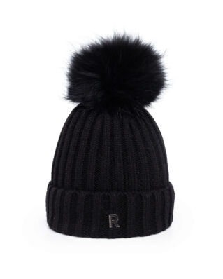 Rockandblue Hat Pom Pom Beanie Black/Black