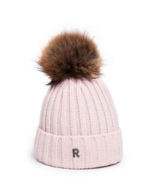 Rockandblue Hat Pom Pom Beanie Pale Pink/Natural