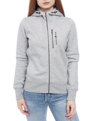 Sail Racing W Gale Zip Hood Grey Mel