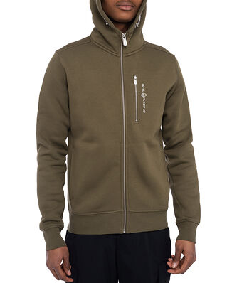 Sail Racing Bowman Zip Hood Military Green