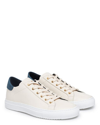 Sandays Footwear Wingfield Leather Petrol Cream