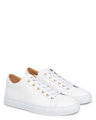 Sandays Footwear Wingfield Pebbled Leather White